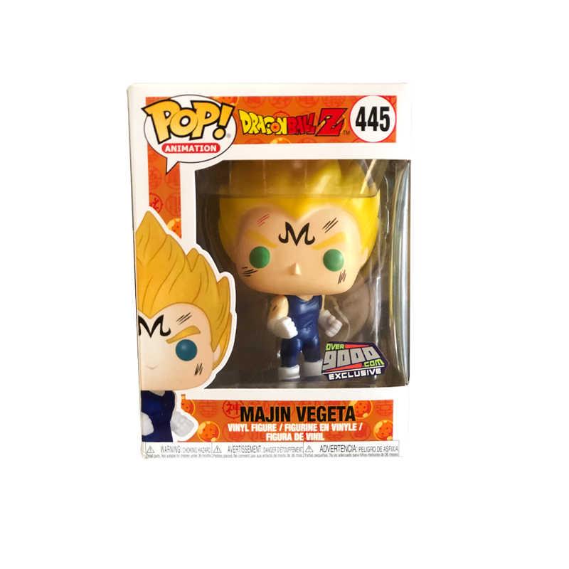 Vinil FUNKO POP Anime Japonês Dragon Ball Majin VEGETA Action Figure Coleção Modelo Brinquedos Para presente de Natal Das Crianças