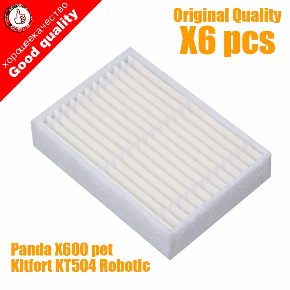 Vacuum Cleaner Parts Home Appliance Parts Professional Sale 6pcs Replacement Hepa Filter For Panda X600 Pet Kitfort Kt504 For Robotic Robot Vacuum Cleaner Accessories