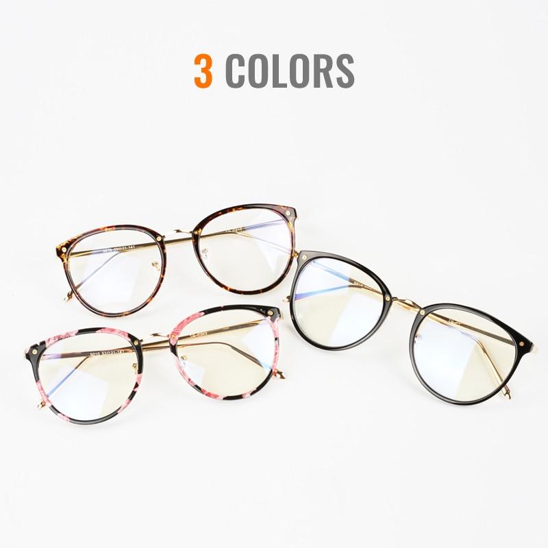 Toketorism 2019 tr90 metal glasses frame vintage women men eyes glasses myopia diopter optical frames in Women 39 s Eyewear Frames from Apparel Accessories