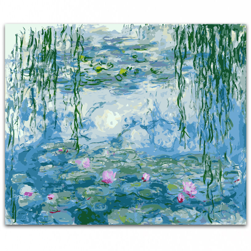DONGMEI OILPAINTING DIY oil painting By Numbers painting Monet Home Decor painting pictures landscape DM1712319