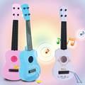 Crianças Brinquedo Mini Guitarra Ukulele Pequeno Instrumento Musical Presente 31X9.5X3.5 Cm