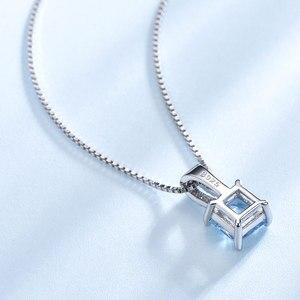Image 3 - UMCHO colliers en argent Sterling 925, pendentifs élégants, bijoux en topaze bleu ciel, cadeau de mariage pour femmes, avec chaîne