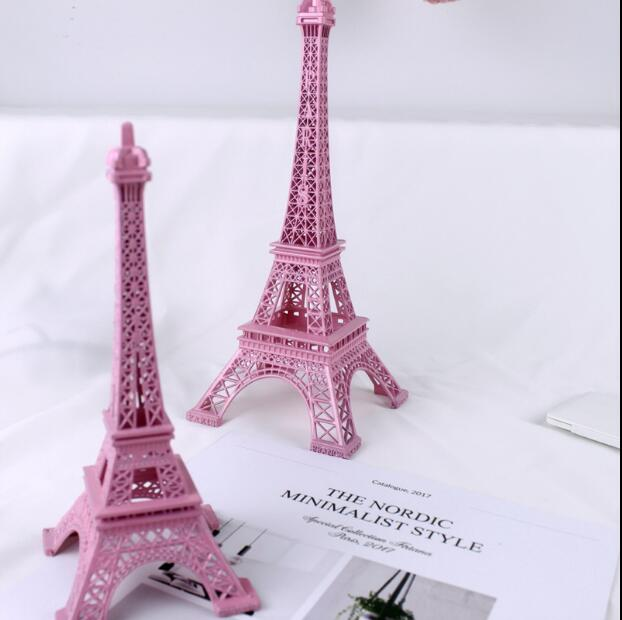 Romantic Girl Dream Eiffel Tower Pink Tower Desktop Decoration Ornaments Creative Gift Posing Take photos Background Props 05286