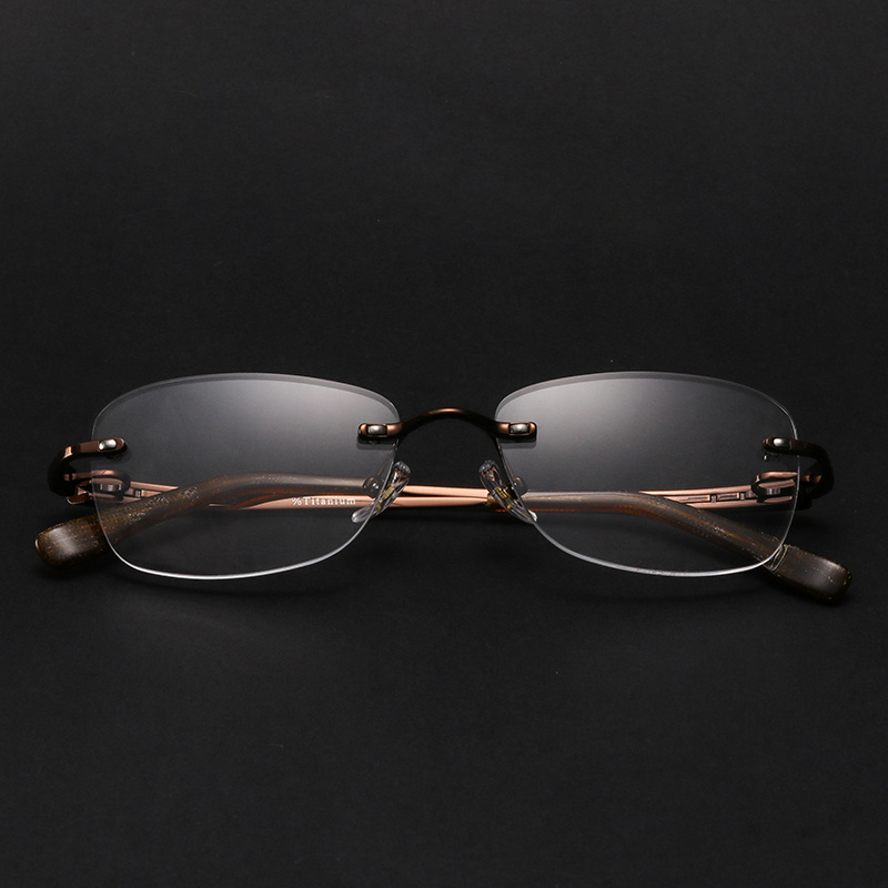 Alloy Men Prescription Glasses Multifocal Blue Light Myopia Thin Photochromic Progressive Aspherical Optical Glasses F 152