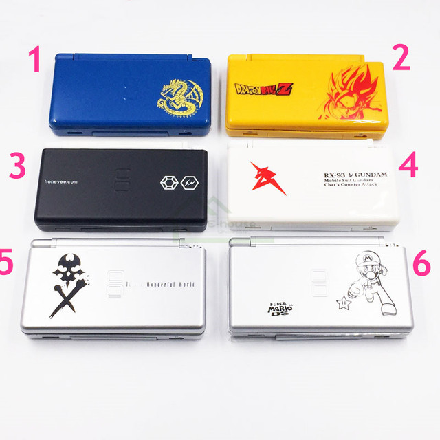 For NDSL Limited Edition Replacement Shell Case Cover for Nintendo DS Lite Shell Housing with Button Kit Full Set