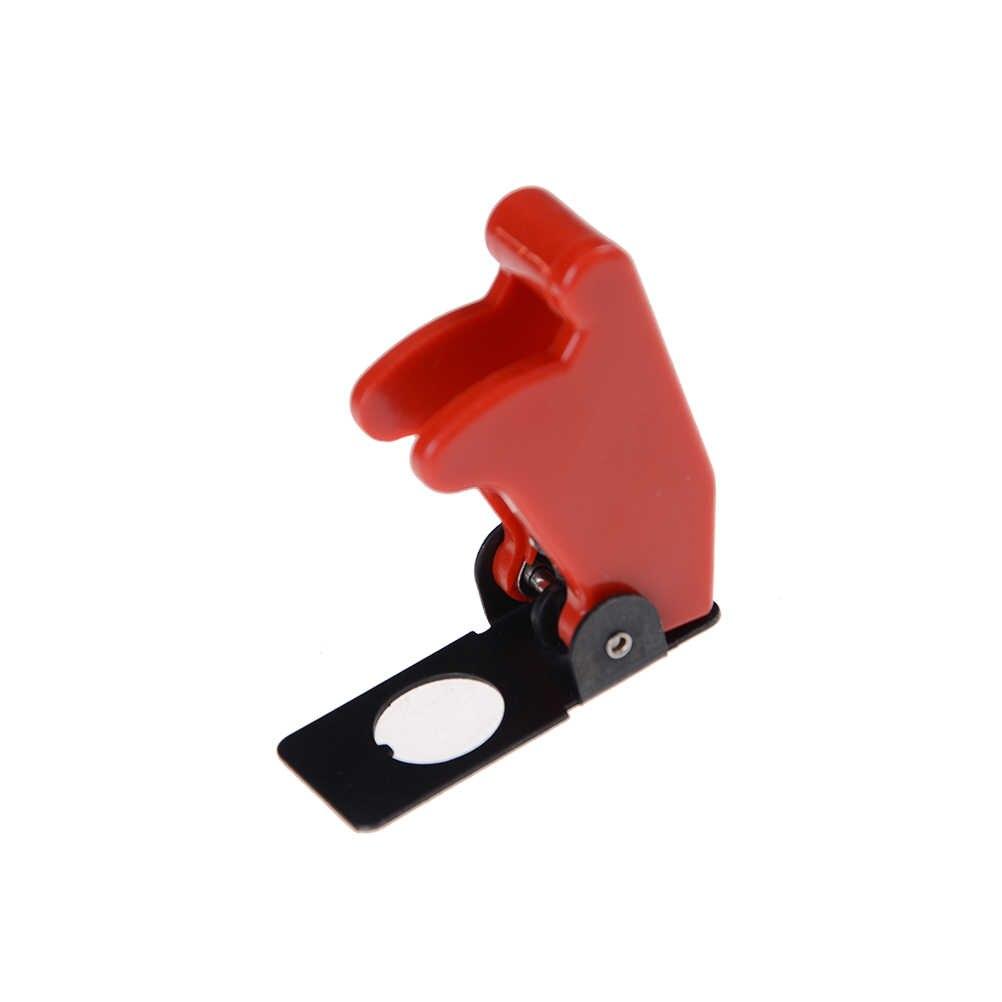 Sourcingmap Tapa de seguridad para interruptor de 12 mm impermeable con resorte color rojo