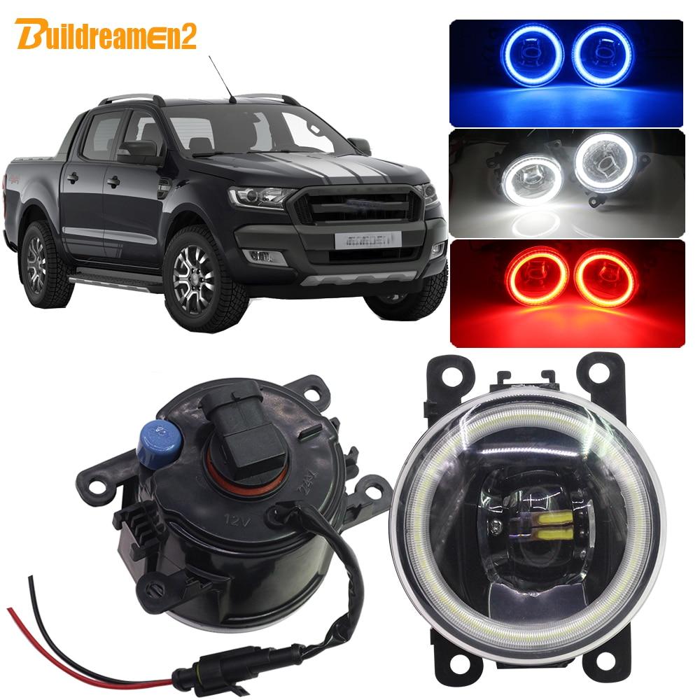 Buildreamen2 For Ford Ranger Car H11 LED Bulb Fog Light Angel Eye DRL 12V 2005 2006 2007 2008 2009 2010 2011 2012 2013 2014 2015