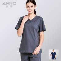 ANNO Elasticity Medical Scrub Set Nurse Uniforms Hospital clinic Work Wear Health and Beauty care Medical Clothes Surgical Suit