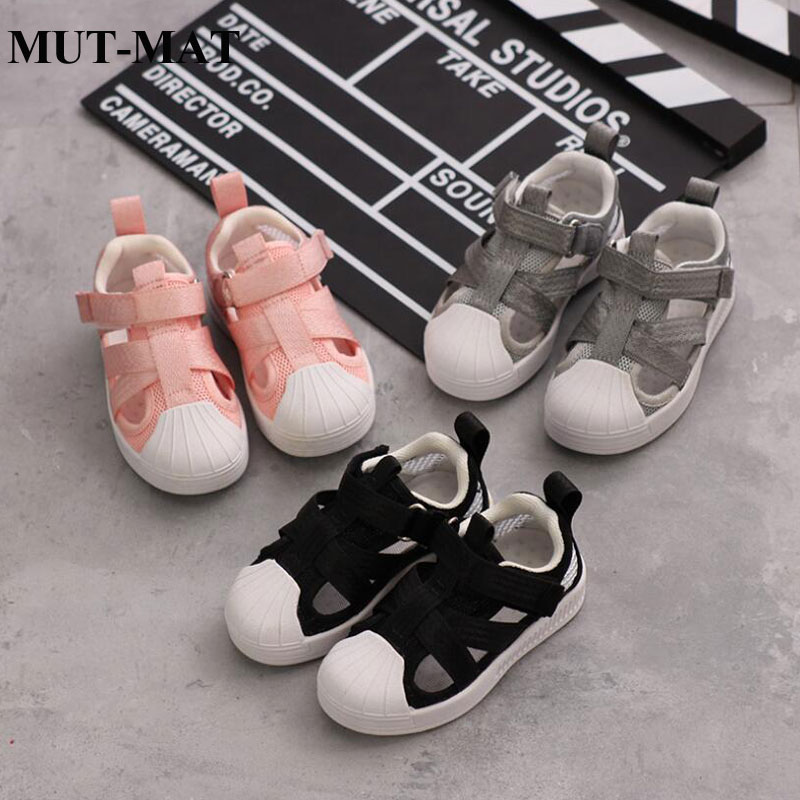Kid Shoes Children Genuine Sandals Boy&girls Candy Color Breathable And Light Simple Retro Design Magic Sticker Shoes