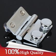 High Quality 4PCS/lot Brass Frameless Shower Door Hinges Bathroom Shelf Waterproof Movable Pivot Hinge Free