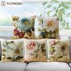 Flower Printing cushion cover Pillow case Home Decorative Cushion Covers Sofa Pillows Car Chair Home Decor Pillow Case almofadas