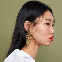 Bohemia Flower Earrings For Women Big Long Drop Earrings Hanging Dangle Earrings Vintage Punk Ethnic Fashion Jewelry Accessories цена 2017