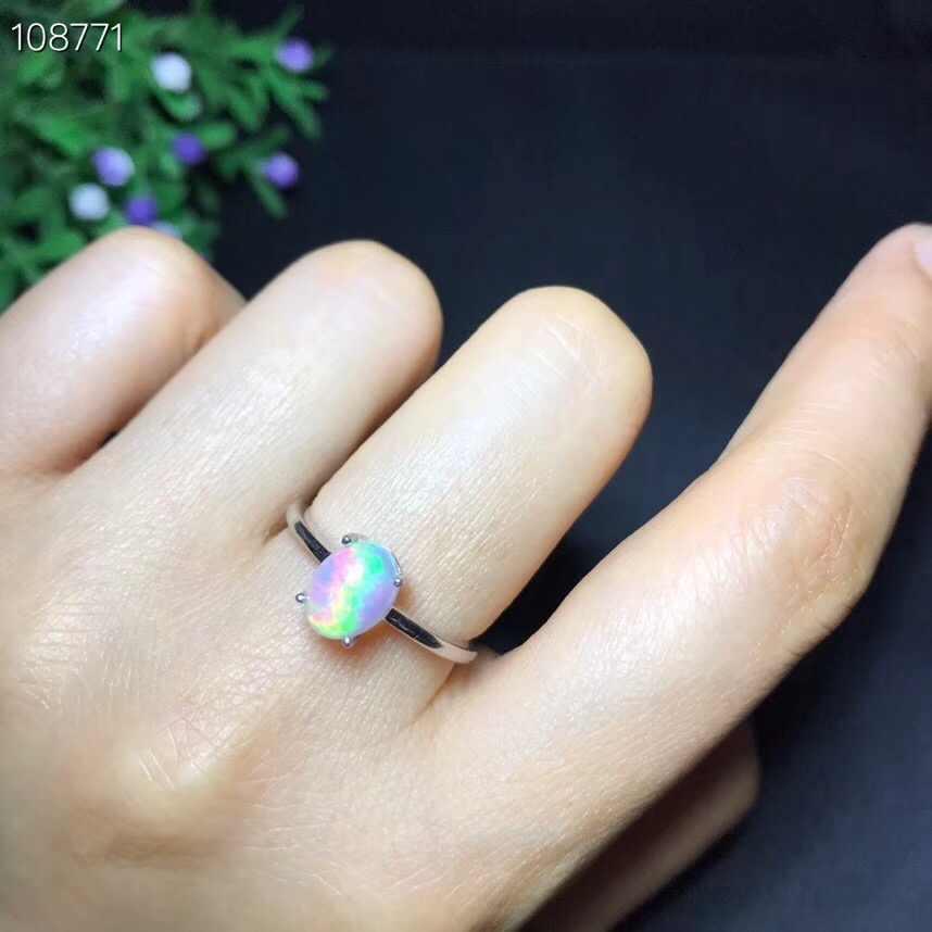ใหม่ผลิตภัณฑ์แนะนำโดยเจ้าของธรรมชาติโอปอลแหวนผู้หญิงเปลี่ยนไฟสีลึกลับ 925 เงินปรับขนาด