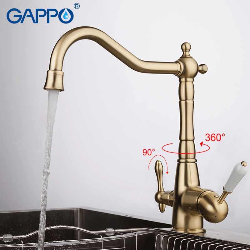 Gappo Air Mixer Keran Dapur Keran Keran Mixer Dapur Torneira dengan Disaring Air Keran Dapur Kuningan Air Crane Filter Kran