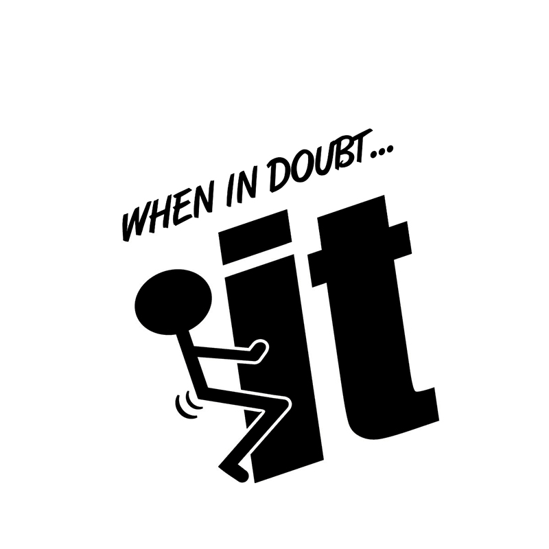 When In Doubt F*** It! Joke Car Motorbike Vinyl Sticker Graphic Decal Funny image