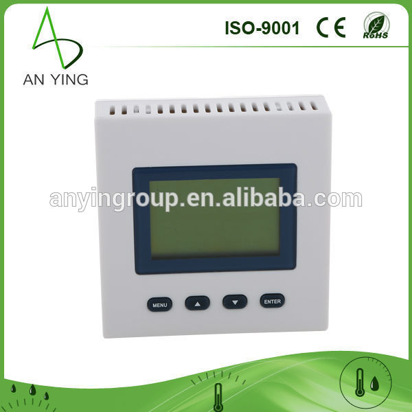 Indoor wall-mounted digital temperature humidity sensor/greenhouse temperature and humidity sensor 0 2000ppm range wall mount indoor air quality temperature rh carbon dioxide co2 monitor digital meter sensor controller