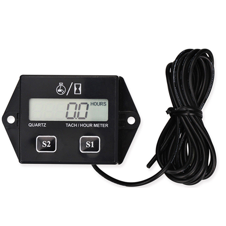 Car Tachometer For Boat Engine Pit Bike Chainsaw Motorcycle Tachometer Moto LCD Digital Display Moto Engine Tach Hour Meter