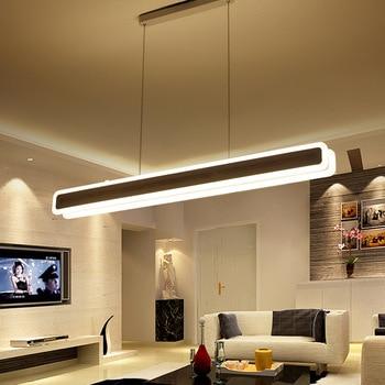 Simple modern dining room living room bedroom led   acrylic creative personality horizontal Pendant Lights WF5091128