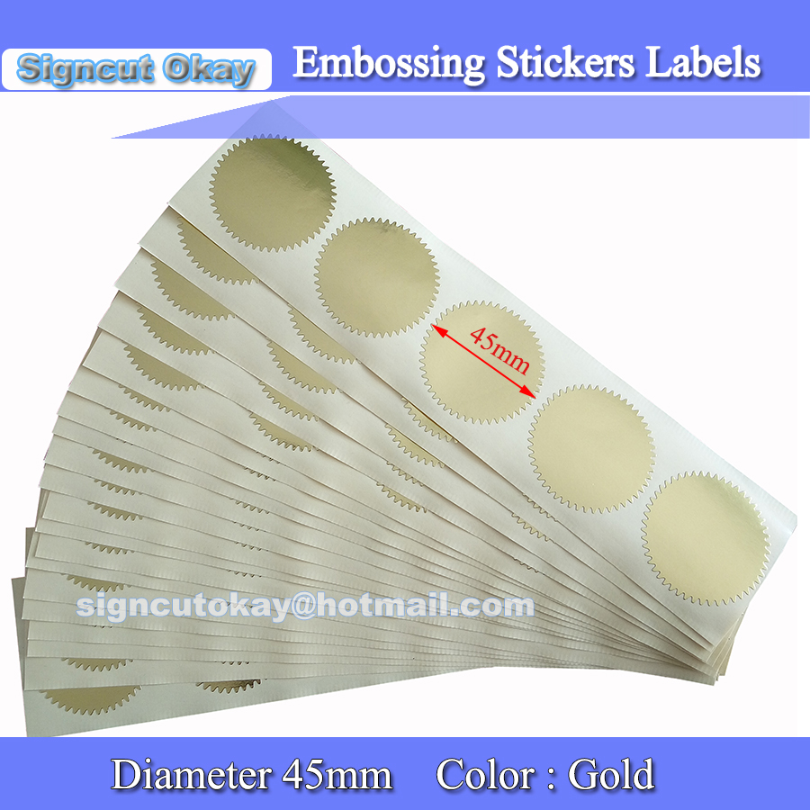 Embosser Sticker 20 Sheet 100pcs Round Gear Wheel Seal Adhesive Stickers Embossing Labels Scrapbooking Stamp Sticker Free Ship