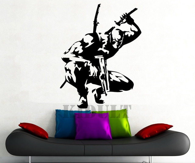 Aliexpresscom  Buy Deadpool Wall Sticker DC Marvel Comics - Superhero vinyl wall decals