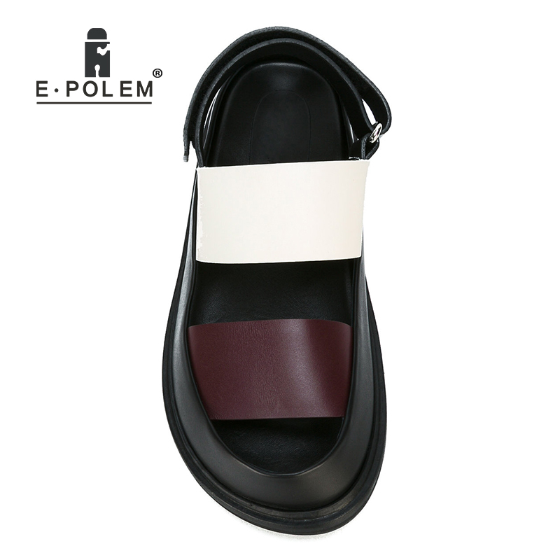 Fashion Summer Genuine Leather Men Sandals Rome Gladiator Male Casual Platform Sandal Shoes High Quality