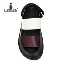 Fashion Summer Genuine Leather Men Sandals Rome Gladiator Ma