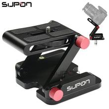 Supon Z-образный алюминиевый сплав Складная камера Настольный держатель Quick Release Plate наклон головы для Nikon Canon Sony Pentax DSLR