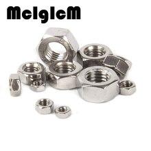 H051 100Pcs DIN934 M1.6 M2 M2.5 M3 M4 Carbon Steel Hex Nut Hexagon Nuts Metric Thread Suit For Screws Bolts HW010