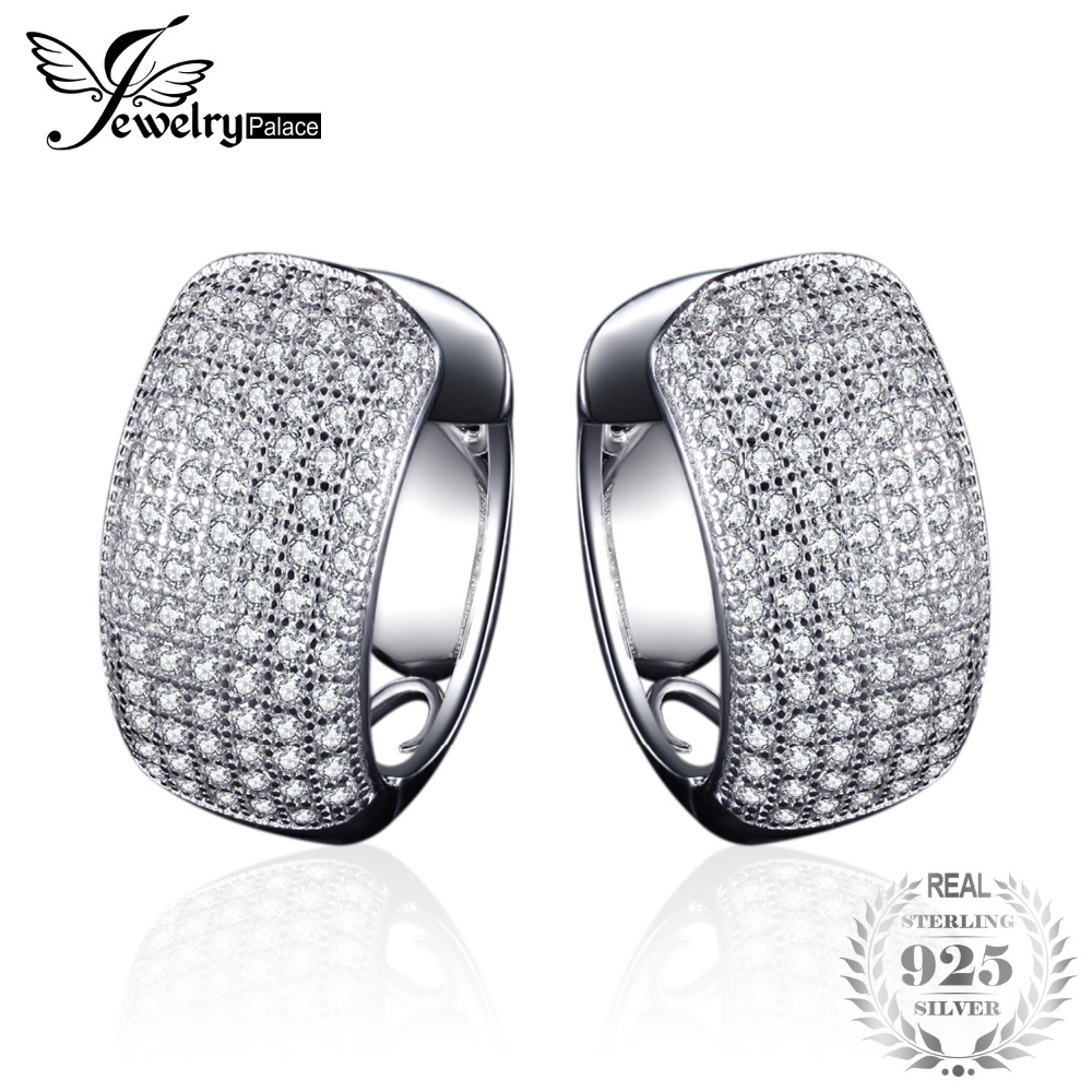 JewelryPalace Fashion 1.8ct Round Clip on Earrings 925 Sterling Silver Fashion Earrings Jewelry For Women Gift