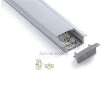 100 X 1M Sets/Lot 6063 extruded led aluminium profile and Wide T extrusion for recessed Wall or floor light