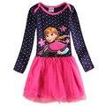 Novatx niñas vestido de los cabritos para las muchachas niños ropa niñas trajes de impresión princesa elsa disfraces niñas vestidos h5320