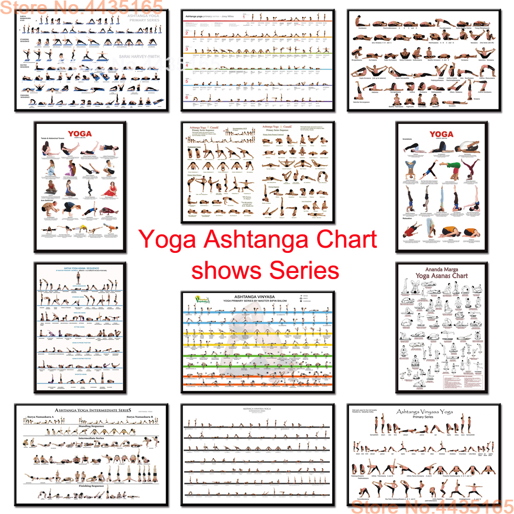 Yoga Ashtanga Chart Poster Gym Bodybuilding Exercise Posters And Prints Canvas Painting Wall Art For Living Room Home Decor Aliexpress
