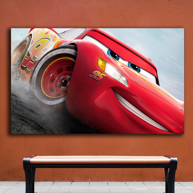 Fashion Oil Painting cars 3 lightning mcqueen Home Decor On Canvas ...