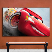 Fashion Oil Painting Cars 3 Lightning Mcqueen Home Decor On Canvas Modern Wall Art Canvas Print