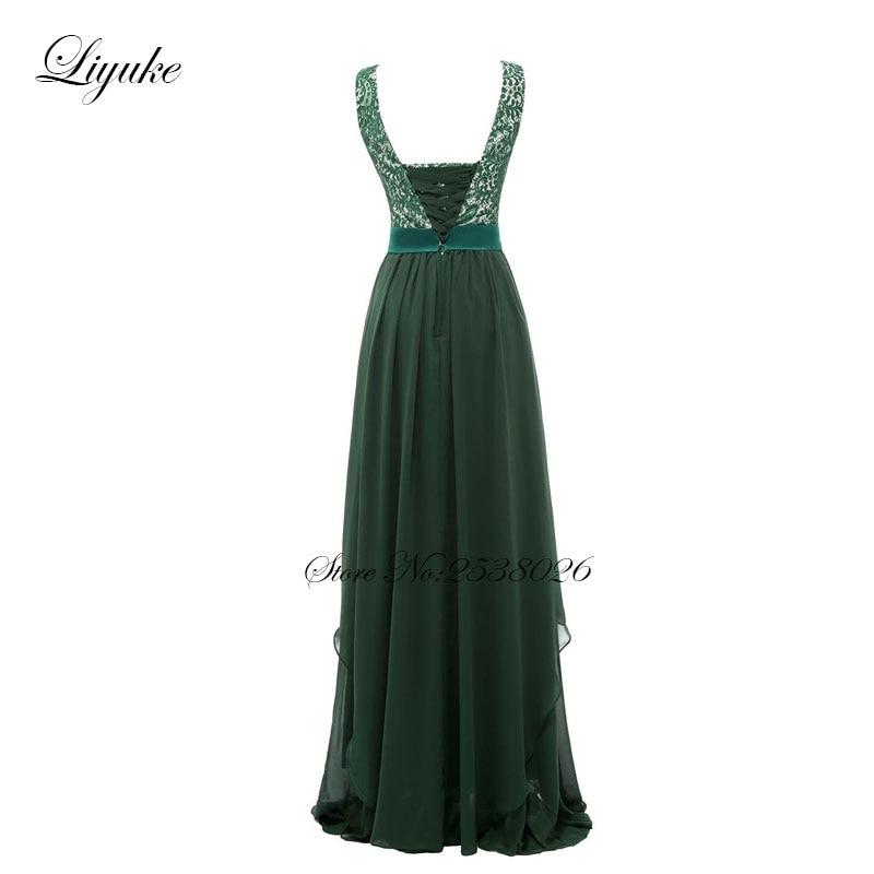 Liyuke krajka s šifónem družiček šaty formální šaty - Šaty pro svatební hostiny - Fotografie 3