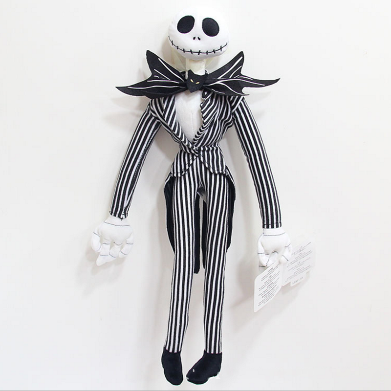 купить 1 pcs funny The Nightmare Before Christmas Jack Skellington Plush Doll Peluche Stuffed Kids Toys Dolls Children Gifts недорого