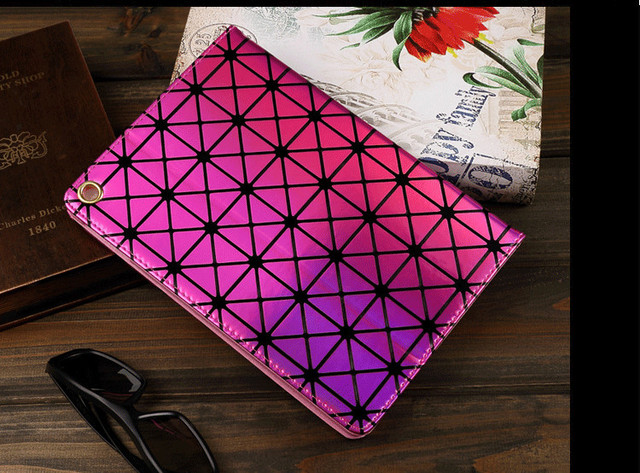 Luxury Colorful Bling Laser Diamond Flip Stand Leather Smart tablet Cover For apple ipad mini 4 case