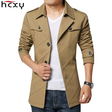 HCXY Brand 2017 New blazer men Business Casual Blazer Male Cotton Parka Men's slim fit suit Jackets Men Long Blazers Size M-4XL