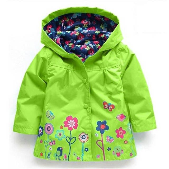 3e40a4528 Online Shop KEAIYOUHUO Boys Girls Flowers Wind Rain Hooded Jacket ...