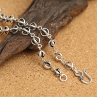 925 Sterling Silver Double Dorje Rolo Chain Necklace Hook Clasp 7mm 18 20 22 24 26 28 30 32 34 36 Inches