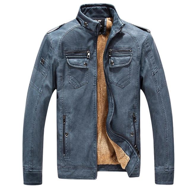 2016 nuevo Otoño invierno de terciopelo de los hombres ropa de la chaqueta de Cuero de Alta calidad de la manera ocasional Caliente Espesa Hombres Abrigo De Algodón 4 color