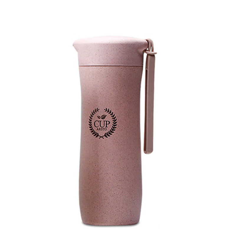 GFHGSD Creative Real New Protein Shaker Water Bottle Wheat Straw - Kitchen, Dining and Bar - Photo 6