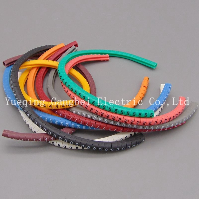 Color number tube EC 1 2.5mm Cable Wire Markers Letter 0 to 9 X ...