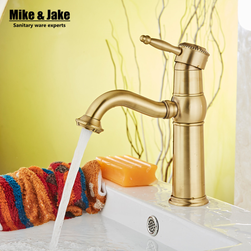 ФОТО Luxury New Arrival Double Handle Bathroom antique brass Faucet Basin crane tap Hot and Cold Water tap Home wate cock JP10605