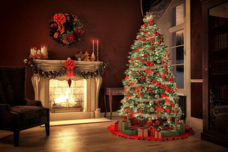 6x10ft (2x3m customizable) Christmas Photography Backdrops  Art Fabric newborn&pet Gift Photography Background D-8943