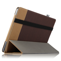 High Quality Canvas Grain PU Leather Folio Flip Stand Cover Case For CUBE Iwork1x Iwork 1x