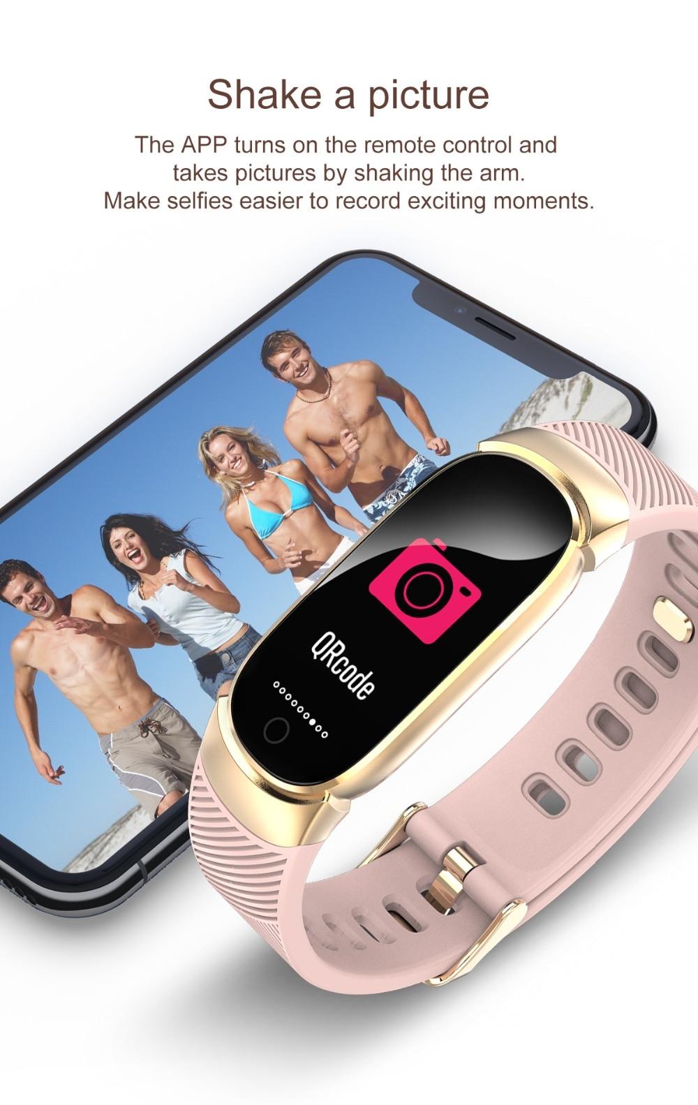 HTB1LOfvdUGF3KVjSZFoq6zmpFXat QW16 Waterproof Smart Bracelet Smart Band IP67 Heart Rate Fitness Tracker Blood Pressure smart watch