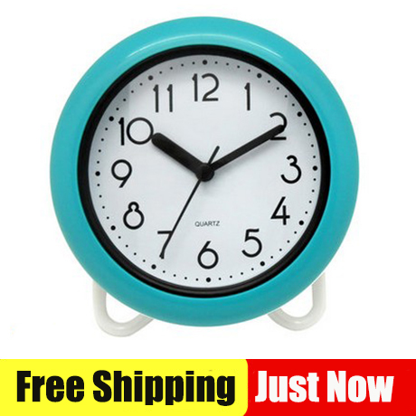 Free Shipping New Bathroom Waterproof Clocks Shower 8 Inch Wall With Table Stander Two