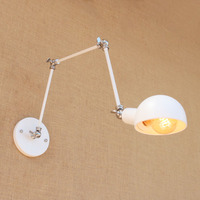 White Loft Style Industrial Vintage Wall Lamp Edison Wandlamp Luminaire Swing Long Arm Wall Light Fixtures Applique Murale LED|LED Indoor Wall Lamps|Lights & Lighting -