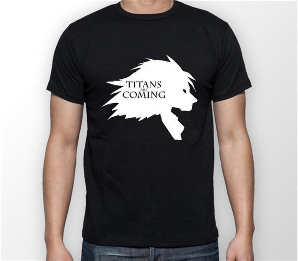 Newest 2018 Titans are coming Attack on Titan Anime Unisex Tshirt T-Shirt Tee ALL SIZES Hipster O-neck cool tops